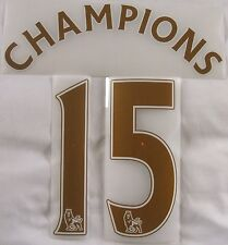 Official Sporting id 2014/15 Chelsea CHAMPIONS 15 Gold Shirt Print Set