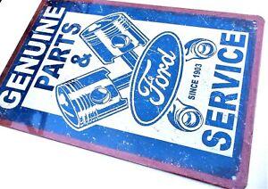 FORD-PARTS-RETRO-METAL-TIN-SIGNS-vintage-cafe-pub-bar-garage-car-plaque