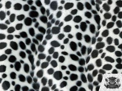"Velboa Faux Fur Fabric Animal Print BROWN DALMATIAN 60/"" W By the Yard"