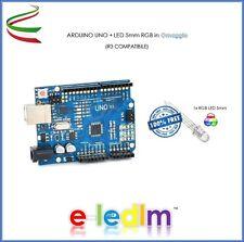 SCHEDA ARDUINO UNO R3 COMPATIBILE CLONE ATMEGA328P + LED RGB 5mm