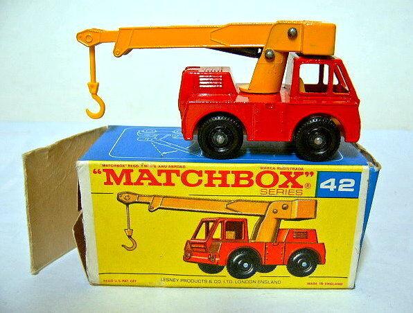 MATCHBOX 42c IRON Fairy Crane ROSSO & Giallo in  F  BOX