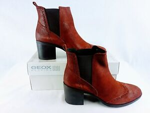 GEOX Women's D Glynna B Ankle Boots in Cigar Size 8 & 10 US