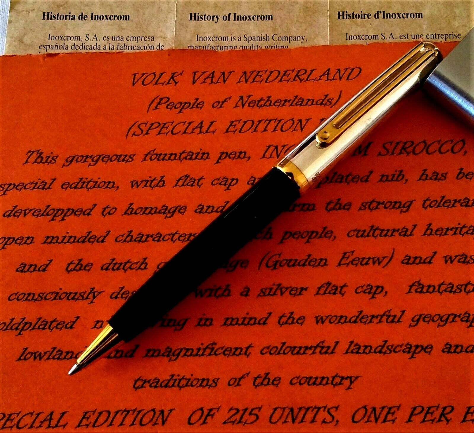 INOXCROM SIROCCO SILVER SPANISH BALL POINT PEN