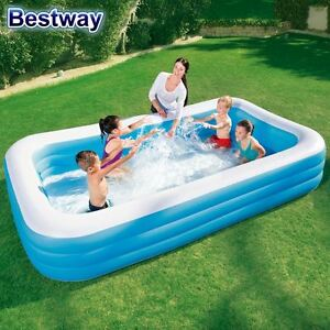 bestway swimmingpool schwimmbecken kinder pool garten familienpool planschbecken ebay. Black Bedroom Furniture Sets. Home Design Ideas
