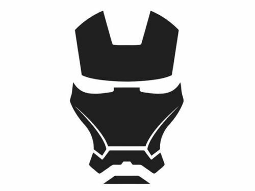 Iron man mask vinyl decal sticker 90mm x 137mm