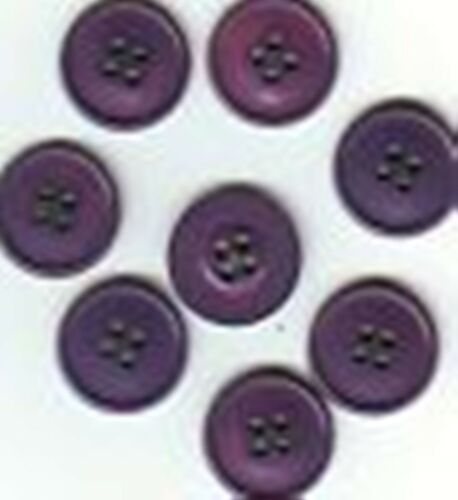 6er-Set Knöpfe neu 17 mm 4 Löcher lila violett Knopf Nähen
