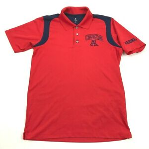 Knights Dry Fit Polo Size M UofA UNIVERSITY Of ARIZONA WILDCATS Red Shirt Loose