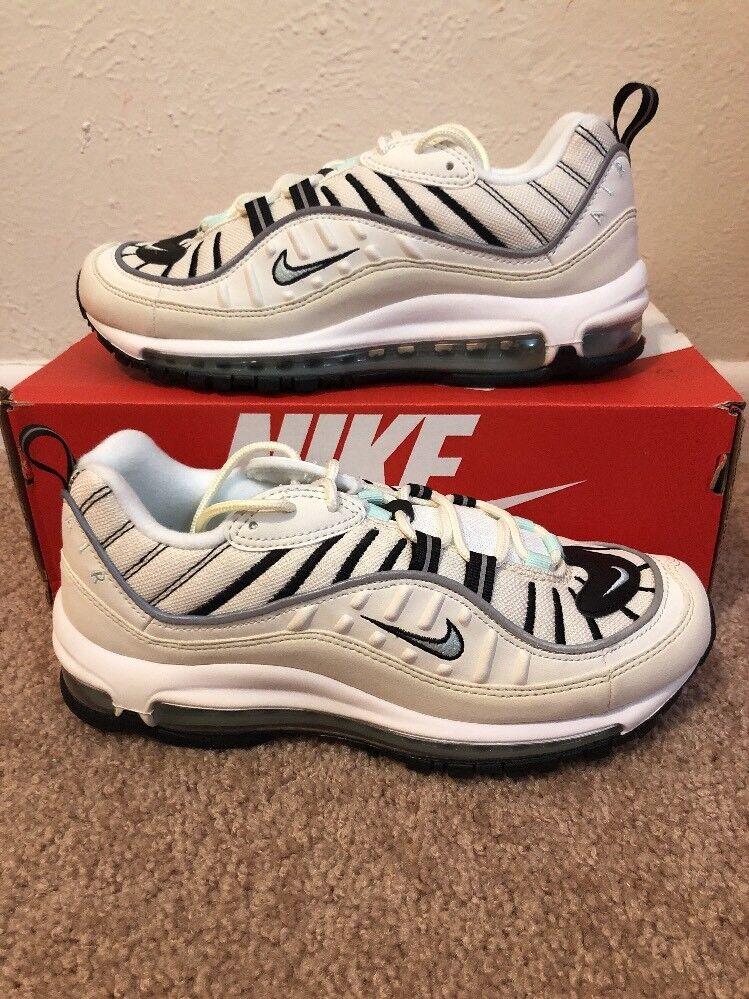 Womens Nike Air Max 98 Running shoes Sail Tan Igloo Black AH6799-105 Size 9