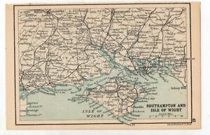 Antique-Map-Of-Southampton-amp-Isle-Of-Wight-John-Bartholomew-C1920