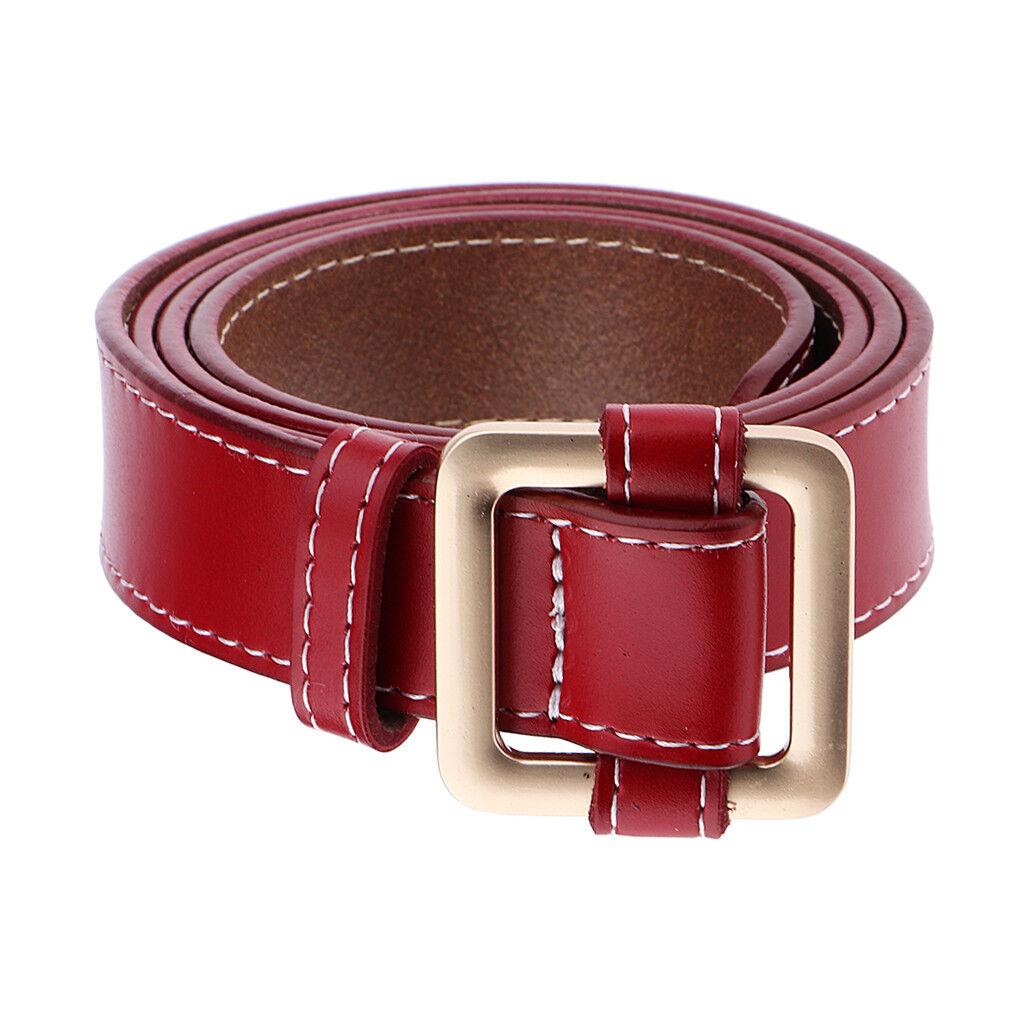 Fashion Stitches Leather Belt Wide Waist Belt Jeans Pants Belts for Women