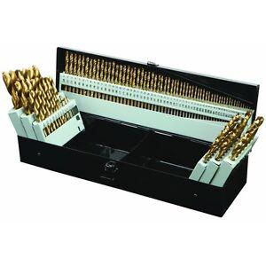 Titanium Nitride Coated M2 High Speed Steel Drill Bit Set, 115 Piece