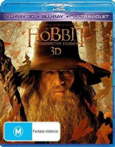 1 of 1 - Hobbit - An Unexpected Journey ( 3D Blu-ray, 2013, 4-Disc Set) (D134)