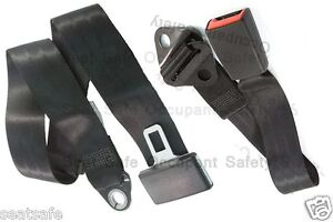 Lap-Only-Seat-Belt-Early-Model-Holden-Ford-Hotrod-etc-Universal-Fit-with-Buckle
