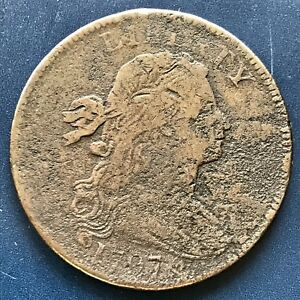 1797-Large-Cent-Draped-Bust-One-Cent-1c-Rare-Date-S-141-Nice-Coin-8722