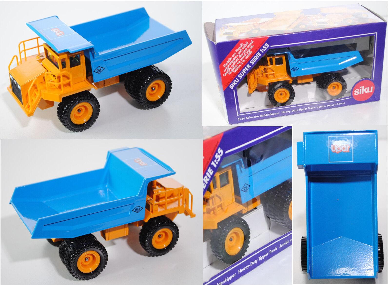 SIKU SUPER 2934 o&k sévère tombereaux k40, UPAT, Publicité modèle, 1 55