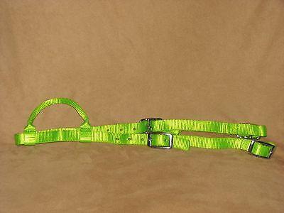 Western Bridle Sliding One Ear Premium Nylon Headstall ORANGE New Horse Tack