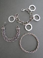 Vintage Modernist Bracelets Set of 3 Snakeskin