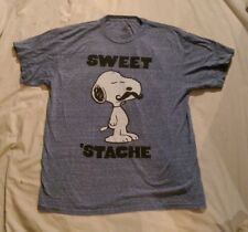 Peanuts Blue SNOOPY SWEET 'STACHE T-SHIRT Men's Large