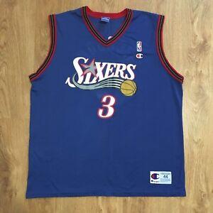 2c6d525eb Image is loading Vtg-Champion-Philadelphia-76ers-Sixers-Allen-Iverson-3-