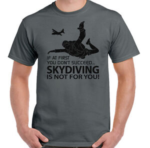 If-At-First-Skydive-Mens-Funny-Skydiving-T-Shirt-Free-Fall-Parachute-Regiment