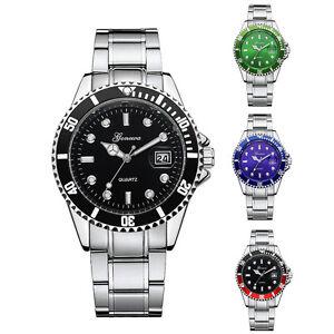 Herren-Sport-Militaer-Armbanduhr-Uhr-Datum-Edelstahl-Quarz-Watch-Wasserdicht-8