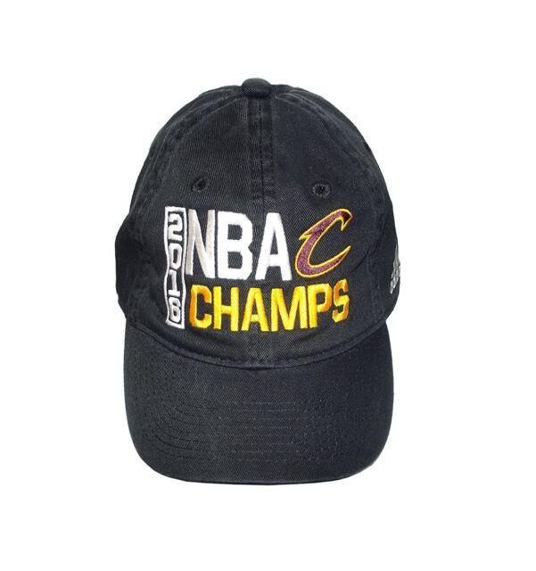 814386dd7b8b8 Cavaliers Black 2016 NBA Finals Champions Locker Room Champs Adjustable Hat