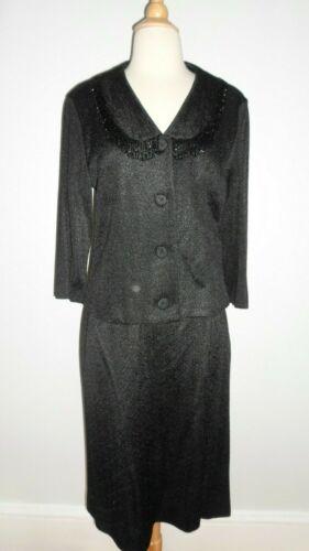 1960's VINTAGE Italian Shiny Knit Beaded Dress Sui