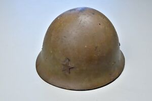 Details about WWII JAPANESE TYPE 90 COMBAT HELMET - COMPLETE