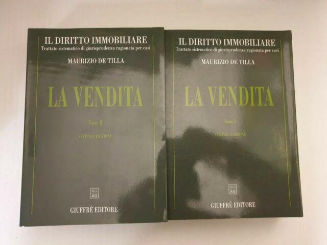 M. De Tilla  LA Vendita due Volumi Il DIRITTO Immobiliare  GIUFFRÉ 1999