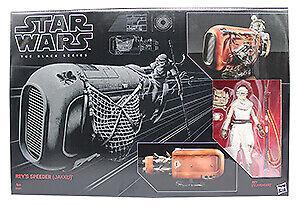 Star Wars The Black Series 6 Zoll Rey mit Speeder Actionfigur Spielset NEUWARE
