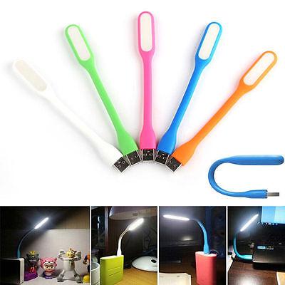 Mini Flexible USB LED Light Reading Desk Lamp for Notebook PC Laptop Power Bank