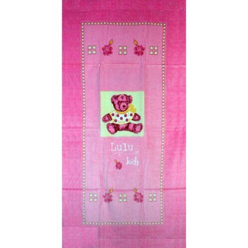 Serviette de plage Drap de bain Lulu Castagnette Rose beach towel coton