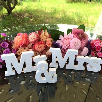 wedding birthday party decoration white letters mr /& mrs wedding creative sign X