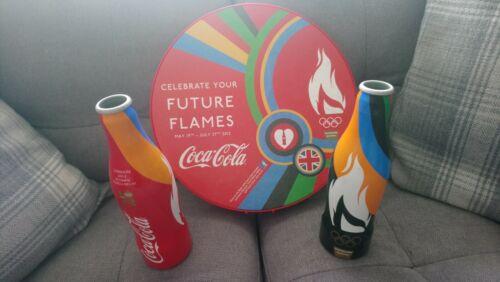 LONDON 2012 OLYMPIC TORCH RELAY ALUMINIUM COCO COLA BOTTLES /& BEAT DRUM