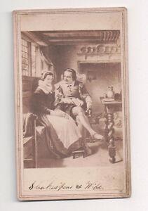 Vintage-CDV-Album-Filler-William-Shakespeare-amp-Wife-English-Playwrite