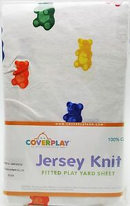 Gummi-Bears-Baby-Fitted-Play-Pen-Yard-Sheet-Boy-Girl-Jersey-Knit-100-Cotton-New