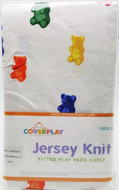 Gummi Bears Baby Fitted Play Pen Yard Sheet Boy Girl Jersey Knit 100% Cotton New