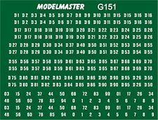 MODELMASTER G151 BR GREEN DIESEL LOCO NUMBER DECALS TRANSFERS EXPO MMG151