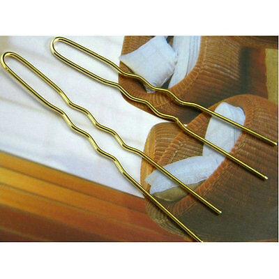 100pcs Gold Hair Bobby Pins Grips 6.5CM Long U Shape Woman Girl Hair Accessory