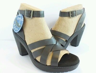TIMBERLAND WHITTIER SANDALS WOMENS ANKLE STRAP HEEL BEIGE LEATHER SHOES RRP £85
