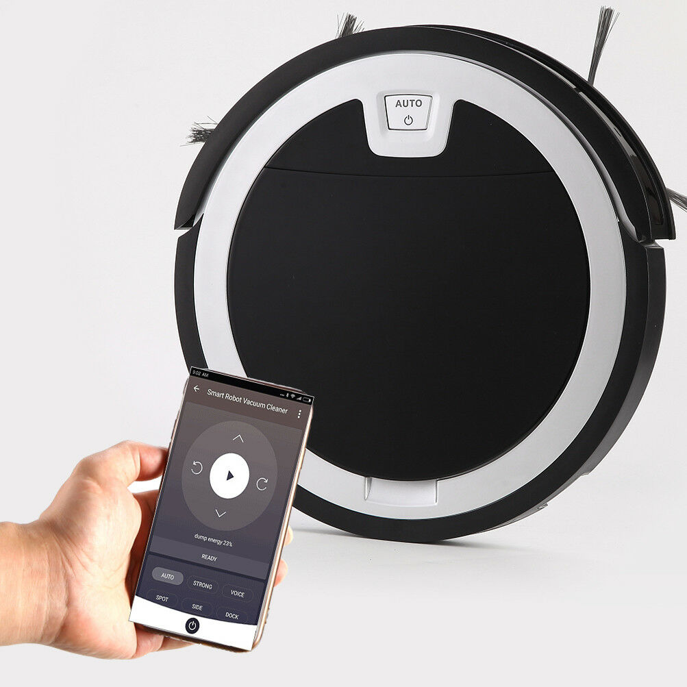 Robotic Vacuum cleaner with APP&Remote control, Built-in Water Tank attached Mop