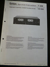 Original Service Manual SABA T 236 CD 950