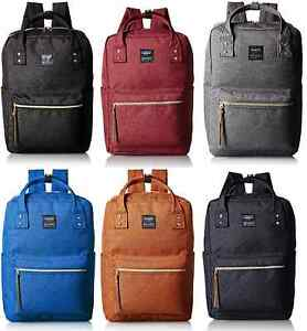 100% Authentic! Anello AT-C1221 Square Backpack Rucksack 6 Colors ...