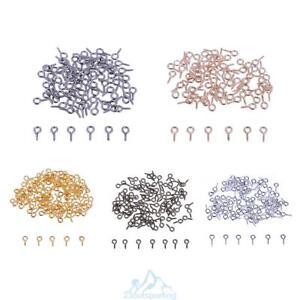 200pc 5x10mm gewind mini haken auge stifte eyepins sen schrauben schmuckzubeh r ebay. Black Bedroom Furniture Sets. Home Design Ideas