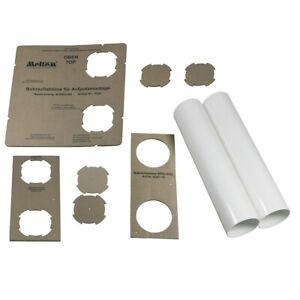 Aufputzmontageset-Ventilacion-de-Aire-DN100-5062-Wohnraumlufter-Original-Meltem