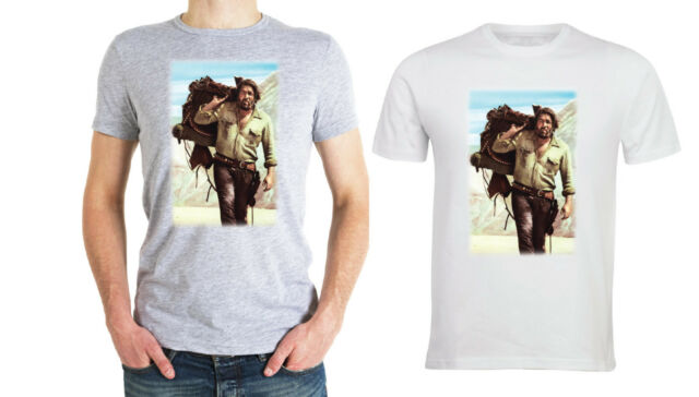 T-SHIRT UOMO BUD SPENCER WESTERN COTONE MODA STAMPA DIGITALE TERENCE HILL