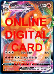 020//189 Darkness Ablaze PTCGO Online Digital Card Charizard VMAX