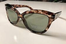 New NINE WEST Cateye Sunglasses Eyewear Leopard Frame Gray Gradient Lens