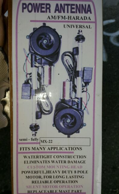 Harada MX-22 AM/FM Universal Fully Automatic Power Antenna Fits Most Cars