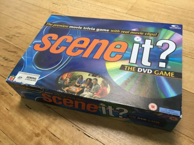 Scene It ? Movie Trivia 1st Edition DVD Board Game Mattel 2003 Free Postage !!!